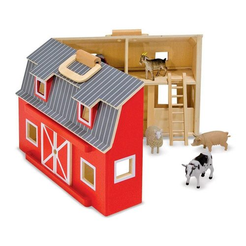 Fattoria in legno giocattolo degli animali