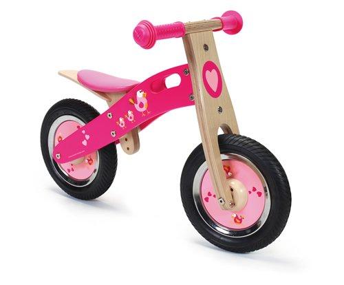 Bici rosa per equilibrio